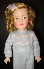 SHIRLEY TEMPLE ST-12 DOLL w/ RARE ORIGINAL BLUE PANTS SET AND HAIR BOW