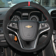 Anti Slip Swede Leather Steering Wheel Stitch on Wrap Cover For Chevrolet Malibu