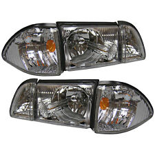 Mustang Headlight Kit Ultra Clear With Driving Lights 1987-93