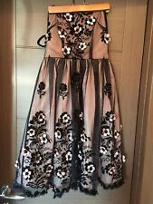 NWOT Red Valentino Black organza flower dress no size listed. looks like a 6