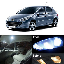 High Quality White LED Blubs SMD Full Interior Light Kit For Peugeot 307 (10pcs)