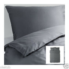 Ikea Gaspa Full Queen Duvet Cover And 2 Pillowcases Gray 001.513.29