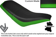 BLACK & GREEN CUSTOM FITS KAZUMA FALCON 110 150 250 ATV QUAD LEATHER SEAT COVER