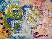 Citrus Summer Contemporary Abstract Oil Painting on Paper Artist Europe 2000-Now