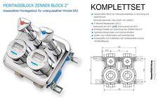 """KOMPLETTSET Montageblock MICRO 2"""" komplett mit Wasserzählern kalt/warm !!!NEU!!!"""