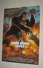 "KING KONG ORIGINAL USED American MOVIE POSTER 1986  27"" X 41"