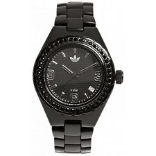 New Adidas Mini Cambridge Black Crystals Acrylic Women Watch 35mm ADH2590 $105