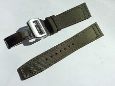 22mm Nylon Fabric Leather Watch Band Strap for iwc pilot / 18mm deployment clasp