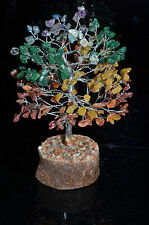 7 Chakra Gemstone Tree Silver Branches and Trunk Healing Reiki Metaphysical