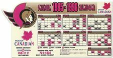 1995-1996 Ottawa Senators SGA Molson Magnet Magnetic Schedule - updated 2nd logo