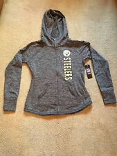 Women's PITTSBURGH STEELERS  Authentic Apparel Hoodie / Poly/Spandex -MED -NWT