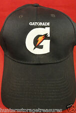 "Gatorade Black Comfort Zone Twill Hat - Ball Cap - Embroidered ""G"" Logo - NEW"
