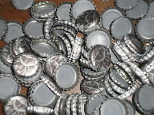 400+  Silver Sleeman Beer Caps Used With Canadian Beaver on them