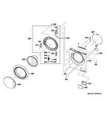 NEW OEM GE Washing Machine DOOR GLASS HOLDER  WH01X10474