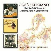 José Feliciano - That the Spirit Needs/Memphis Menu/Compartments (2015)  2CD NEW