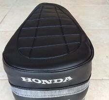Honda CT70 1972-1973 Replacement Seat Cover  Silver Dyed Logo