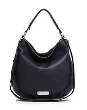 NWT  MARC by MARC JACOBS 'New Q Hillier' Leather Hobo Bag India INk $428 AUTH