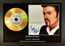 GEORGE MICHAEL-'LADIES AND GENTLEMEN'- SIGNED GOLD PRESENTATION DISC