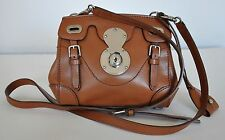 Ralph Lauren Soft Ricky 33 Calfskin Satchel Bag Light Brown