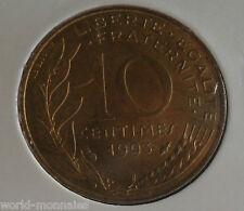 10 centimes marianne 1993 : SPL : pièce de monnaie française
