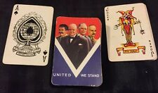 Rare Wwii 1945 Ve Day Playing Cards - Universal