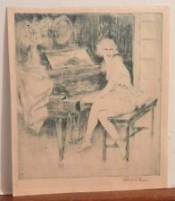 OLD antique Listed Artist Fine Art ETCHING Artwork Signed Well Collected $$