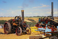 468097 1910 Robey 7 NHP Traction Engine  Wally  Operates Saw Bench A4 Photo Prin
