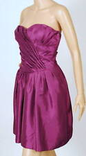 $198 NEW MAX and CLEO by BCBG STRAPLESS PLEATED BODICE TAFFETA DRESS 4
