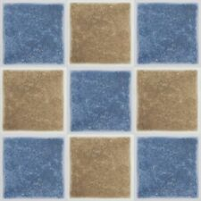 """Peel and Stick Wedgewood Blue 4'x4"""" Vinyl Wall Tiles 3 Square Feet Kitchen and"""