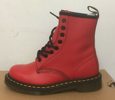 DR. MARTENS 1460  RED SOFTY T   LEATHER  BOOTS SIZE UK 9