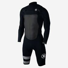 HURLEY Men's 202 FUSION L/S CZ Springsuit - Black - Small - NWT