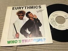 "EURYTHMICS SPANISH 7"" SINGLE SPAIN WHITE LABEL RCA 84 - WHO'S THAT GIRL"