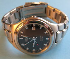 MEN'S CITIZEN QUARTZ ALARM WR100 STAINLESS STEEL WRISTWATCH