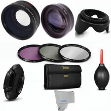 58mm WIDE ANGLE+MACRO+2X TELEPHOTO +FILTER KIT+GIFTS FOR CANON EOS REBEL T3 T3I