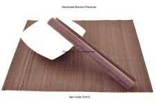 4 fine quality handmade bamboo sets de table ronds de table, violet (marron), PJ012