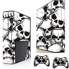 Skulls Sticker/Skin xbox 360e Console & Remote controller stickers xsk23