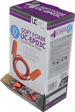 UC-EP03C Standard Corded PU Foam Ear Plugs Dispenser Box Of 200 (SNR 37)