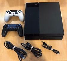 Sony PS4 PlayStation 4 Console CUH-1001A - BLACK - with Cords & 2 Controllers