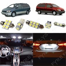 12x White LED lights interior package kit for 1998-2003 Toyota Sienna TS2W