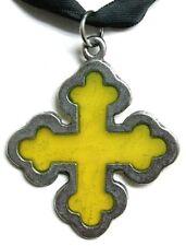 Windows of Light pendant  - Crusader cross (yellow)