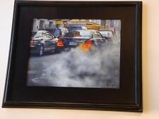 ORIG NY BROADWAY THEATER DISTRICT TAXI CAB MERCEDES PAINTING BRUCE BRAITHWAITE!!