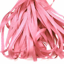 ONE METRE OF SOFT SILK RIBBON, LIGHT PINK COLOUR, 4 MM WIDE
