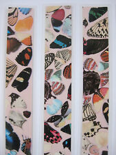 BOOKMARK MADE WITH GENUINE DAMIEN HIRST BUTTERFLY WALLPAPER (2) STOCKING-FILLER