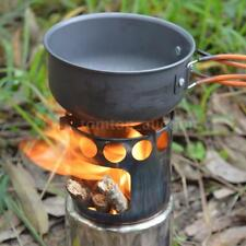 Portable Outdoor Wood Stove Burner Backpacking Burning Picnic Survival New T1H5