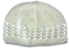 Kufi Hat Crochet Cap Beanie-white