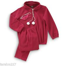 NWT WOMENS PAJAMA SET 3 PC SET HOODED TOP & BOTTOMS EYE MASK WARM THICK MED-LG