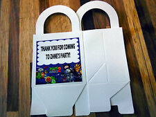12 PLANTS VS ZOMBIES  loot boxes/bags birthday party favor treat, CUSTOMIZE IT!