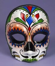 DAY OF THE DEAD MALE HALF MASK w/EYEGLASS FRAMES HALLOWEEN COSTUME ACCESSORY