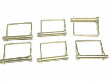 6 PC  6 MM x 70 SQUARE WIRE LOCK  PIN -NEW