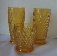 Villeroy & Boch Boston Amber Crystal 2 Highball Glass 1 Double Old fashioned Lot